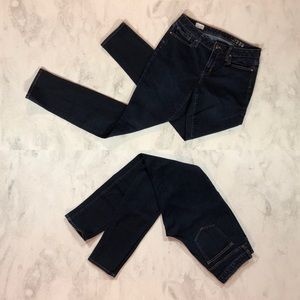 EUC GAP 1969 Curvy Skinny Jeans 30 Tall Dark Wash